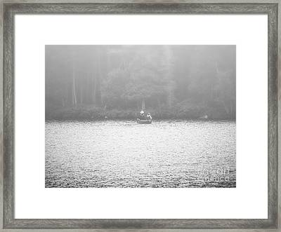 Come With Me And Cross The Line Framed Print