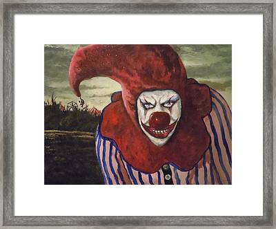 Framed Print featuring the painting Come With Me To The Circus by James Guentner