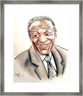 Comedian And Actor  Bill Cosby Framed Print