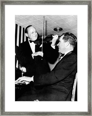 Comedian Jack Benny, With His Violin Framed Print by Everett