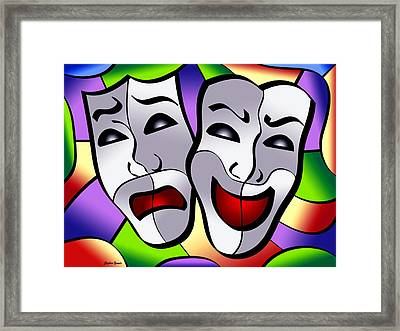 Comedy And Tragedy Framed Print by Stephen Younts