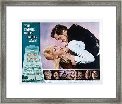 Comedy Of Terrors, Joyce Jameson Framed Print by Everett