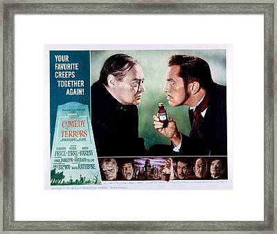 Comedy Of Terrors, Peter Lorre, Vincent Framed Print by Everett