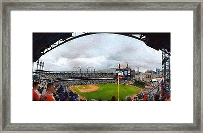 Comerica Park Home Of The Detroit Tigers Framed Print by Michelle Calkins
