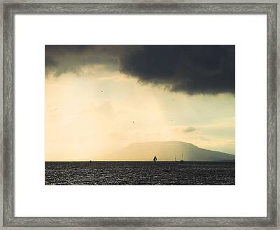 Framed Print featuring the photograph Comes The Storm by Odon Czintos