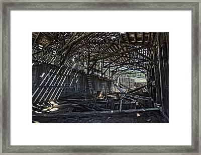Comet Ghost Mine Mill Interior - Montana Framed Print by Daniel Hagerman