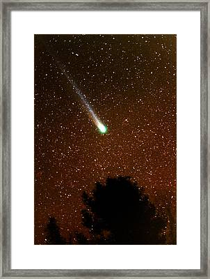 Framed Print featuring the photograph Comet Hyakutake by Rick Frost