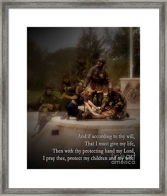 Comfort Those Left Behind Framed Print by Benjamin Hadfield