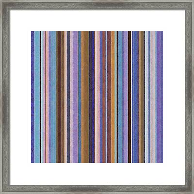 Comfortable Stripes Ll Framed Print by Michelle Calkins