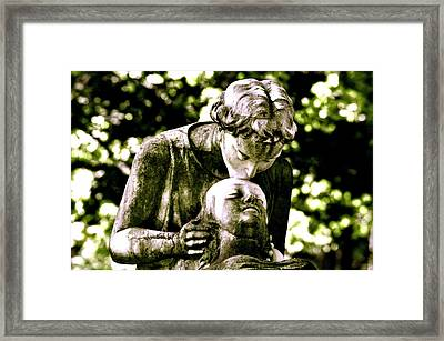 Comforted Framed Print by Valerie Rosen
