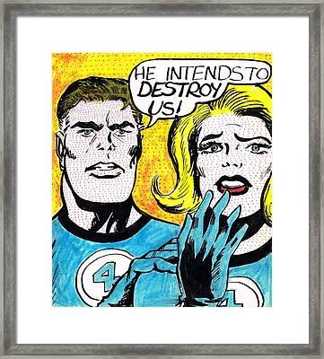 Comic Strip Framed Print by Mel Thompson