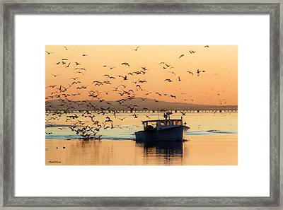 Coming Home With Take Out Framed Print