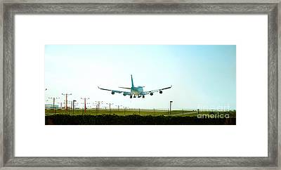 Coming In For Landing Framed Print by Micah May