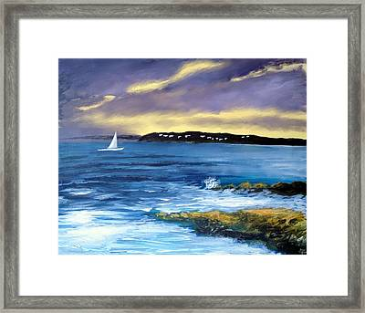 Coming Of The Storm Framed Print by Larry Cirigliano