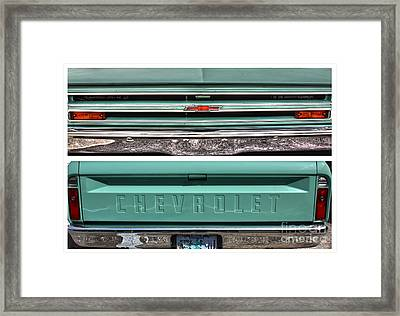Coming Or Going--still A Chevy Framed Print by David Bearden
