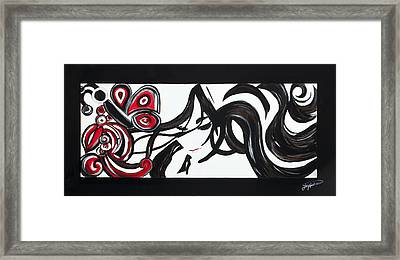 Coming Out Of A Cocoon Framed Print