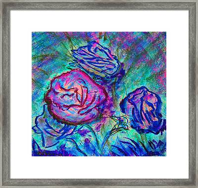 Coming Up Roses Framed Print by Richard James Digance