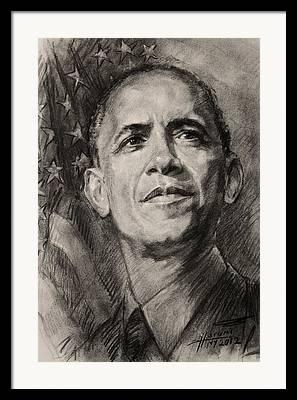 The Obamas Framed Prints