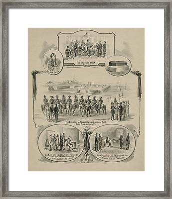 Commemorative Print Depicting The Trial Framed Print by Everett