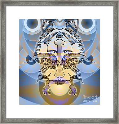 Commemorative Upside Down Masg Art By Topsy Turvy Ambigram Artist L R Emerson II Framed Print by L R Emerson II