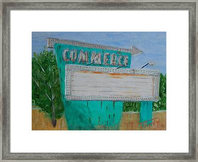 Commerce Drive In Framed Print by Timothy Johnson
