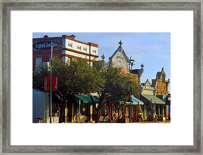 Framed Print featuring the photograph Commerce Then And Now by Louis Nugent