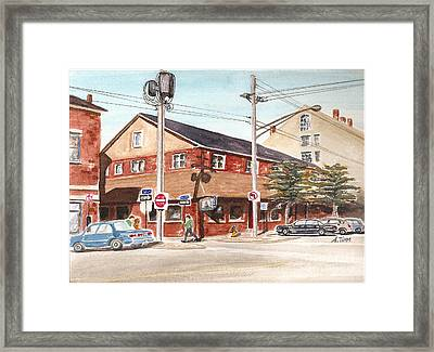 Commercial Street Pub Framed Print by Andrea Timm