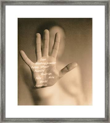 Common Allergies Framed Print