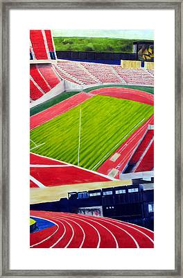 Commonwealth Stadium- Competition Framed Print by Chris Ripley