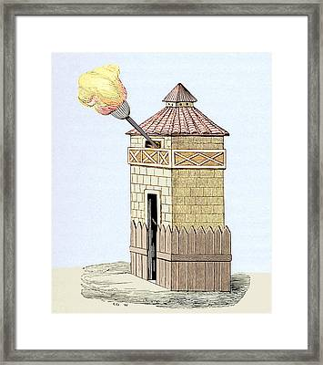 Communication Tower Framed Print by Sheila Terry