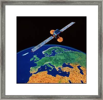 Communications Satellite Framed Print