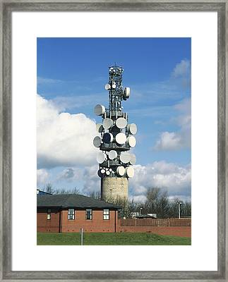 Communications Tower Framed Print by Andrew Lambert Photography