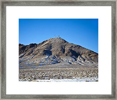 Communications Tower Framed Print by David Buffington