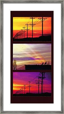 Communications Triptych Framed Print by Steve Ohlsen