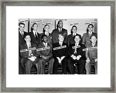 Communist Leaders Who Were On Trial Framed Print by Everett