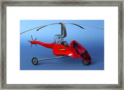 Commuter Helicopter, Computer Artwork Framed Print by Christian Darkin