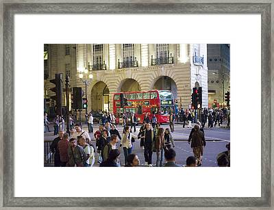 Commuters At Rush Hour Framed Print by Justin Guariglia