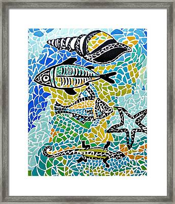 Comotion In The Ocean Framed Print
