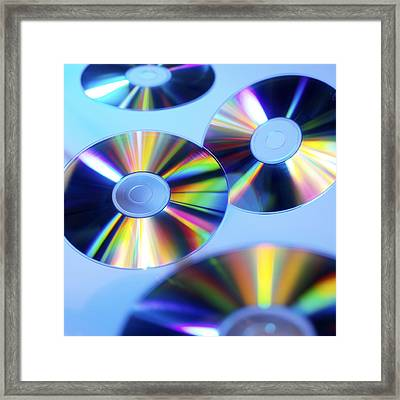 Compact Discs Framed Print by Tek Image