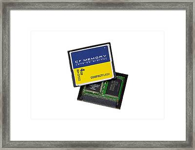 Compact Flash Memory Card Framed Print by Paul Rapson