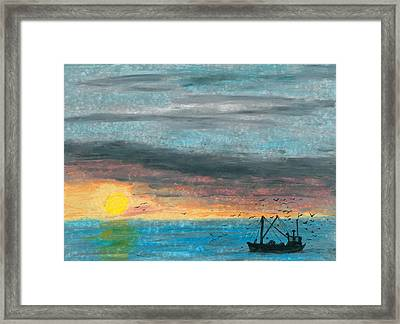 Companions Of The Fishermen Framed Print by R Kyllo