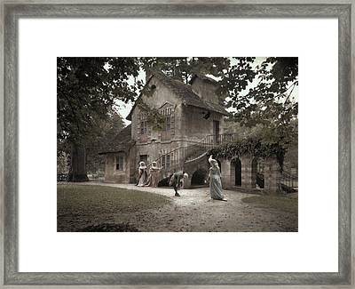 Company Members Reenact Life Framed Print by Gervais Courtellemont