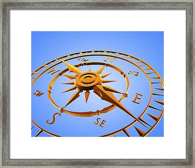 Compass Rose Framed Print by Pasieka
