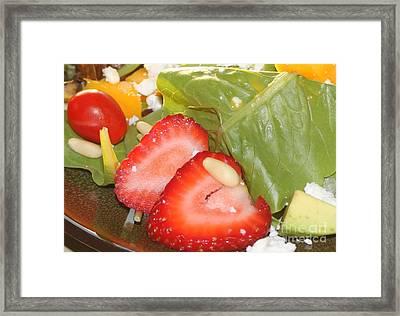 Complimentary Salad Framed Print