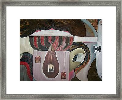 Components Of Tea Framed Print by Nada Al-Ghussain
