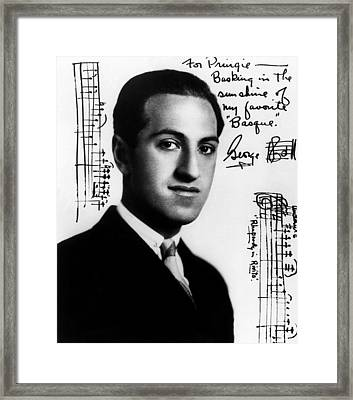 Composer George Gershwin  1898-1937 Framed Print by Everett