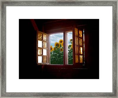 Composite - Ancient Fields Framed Print