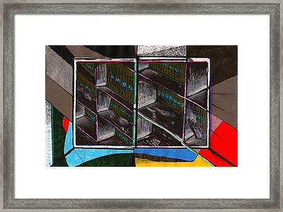 View Out In The Subway Tunnel Framed Print