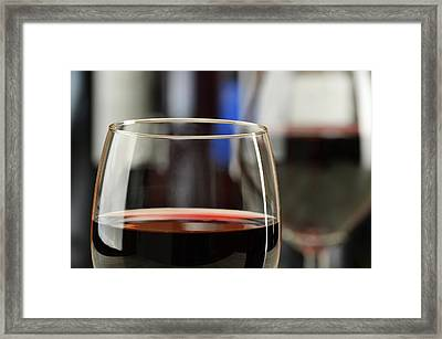 Composition With Glasses And Bottles Of Wine Framed Print