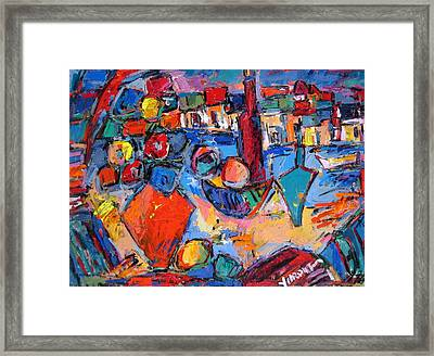Composition With Italy Framed Print